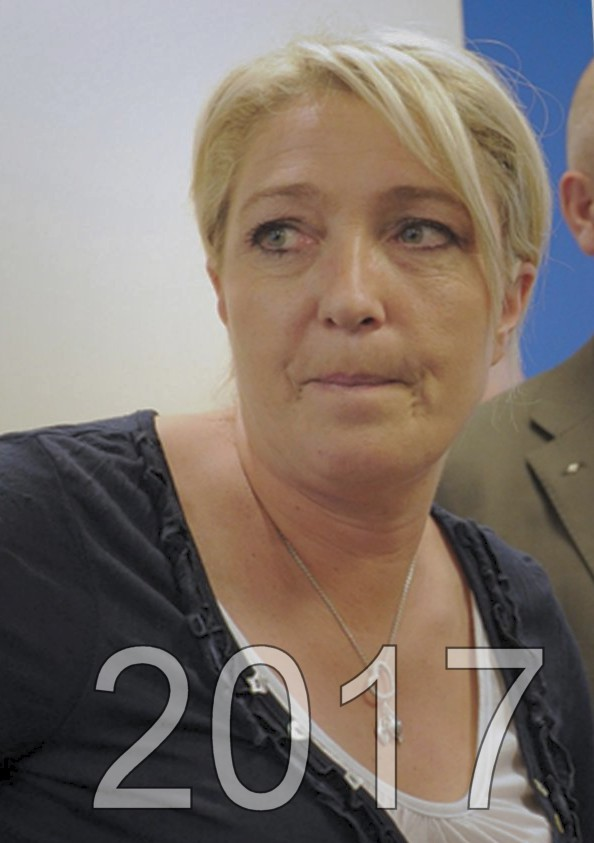 Marine Le Pen candidat aux éléctions présidentielles de 2017